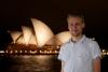 Moi et mon flash à Sydney, entre deux averses...